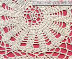 Crochet lace shawl.