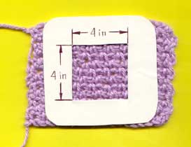 One way to measure gauge for crocheting