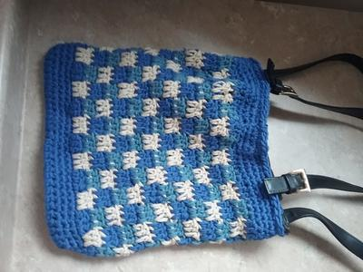 Checkered Double Crochet Stitch Purse