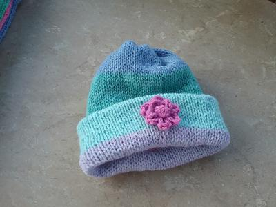 Reverse side of Child's hat