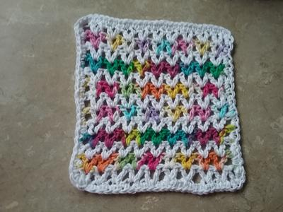 Color changing V Stitch Dishcloth