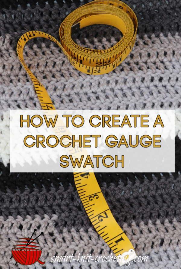 crochet gauge swatch and tape measure