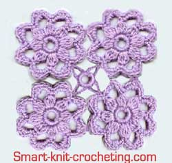Free Crochet Patterns For Small Motifs : How to Join Crochet Motifs.