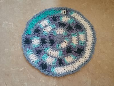 Dishcloth mixing cotton and scrubby yarn