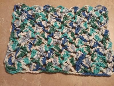 This is the completed dish cloth.