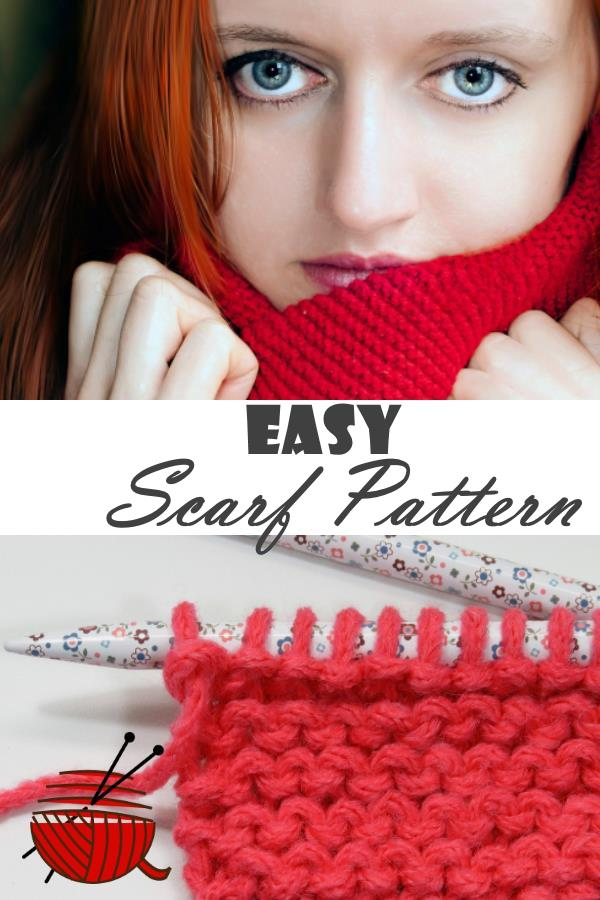 Easy Scarf Pattern with a beautiful redheaded model