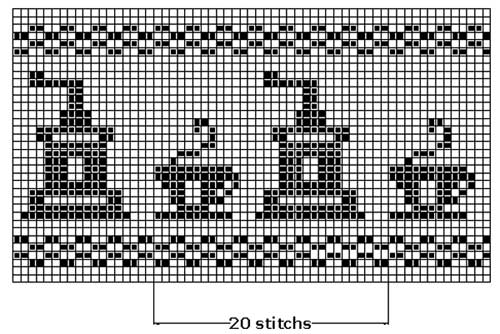 Pattern library. A filet crochet
