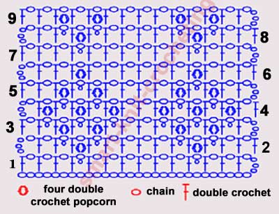 Free Filet Crochet Patterns Part 3 Decorate Mesh With 3d Puff
