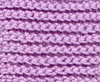 Single crochet under front loop
