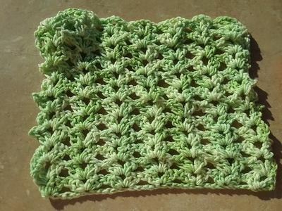 Iris Stitch Dishcloth