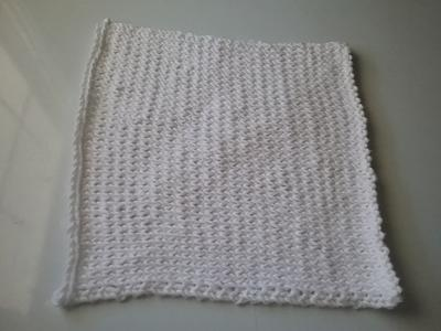 Knitted Dishcloth 1