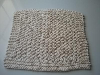 Knitted Dishcloth 6