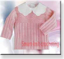 Knitting baby sweater