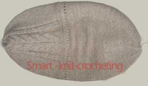 Knitting Hat pattern for a man