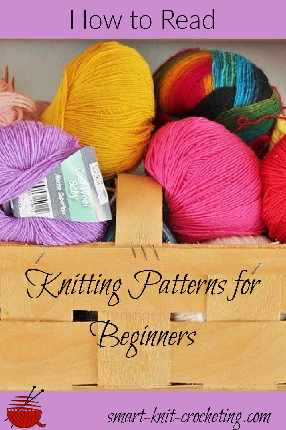 How to read knitting patterns, pin
