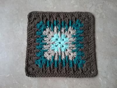 Mosaic  Granny Square Dishcloth