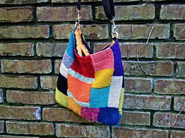 Scrap knitted bag
