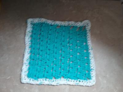 Finished Parquet Stitch Dishcloth