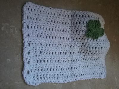 Dish Cloth with Shamrock
