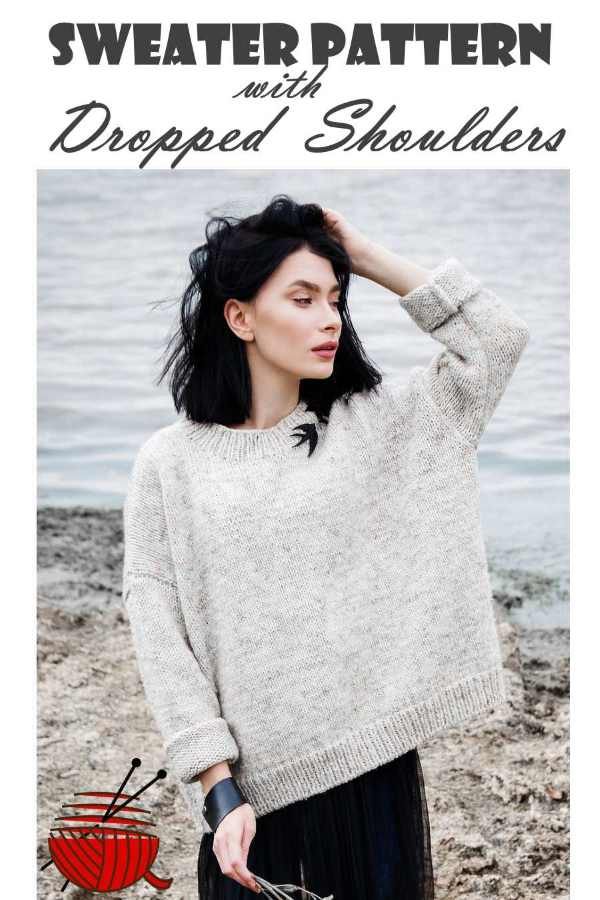 599e598cb42e6 A Sweater Pattern with Drop Shoulders
