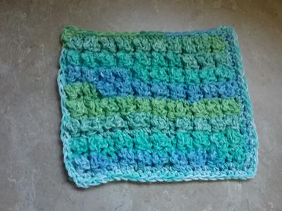 Textured Rug Stitch Dishcloth
