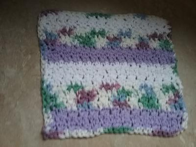 Textured Single and Double Crochet Dishcloth