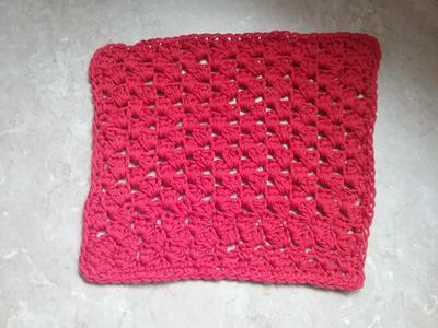 Textured Single Crochet, Half Double Crochet, and Double Crochet Stitch Dishcloth