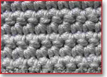Single crochet under TWO loop