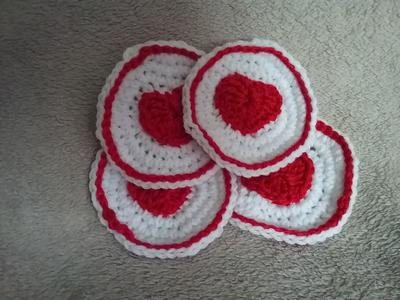 Set of Valentine's Day Coasters
