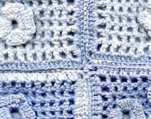 Join by a crochet hook