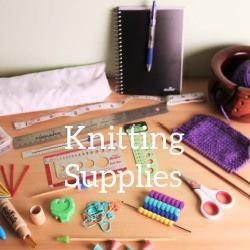 Basic Knitting supplies thumb and link