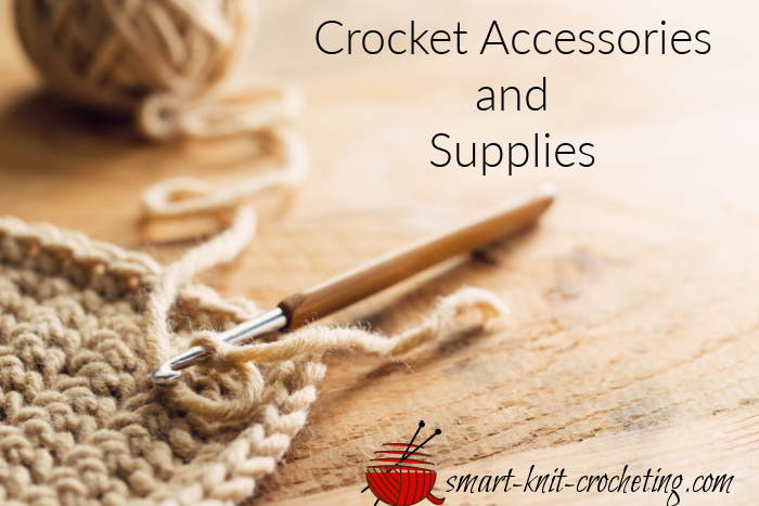 crochet project with yarn and crochet hook