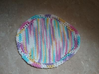 Machine Knit Easter Egg Dishcloth