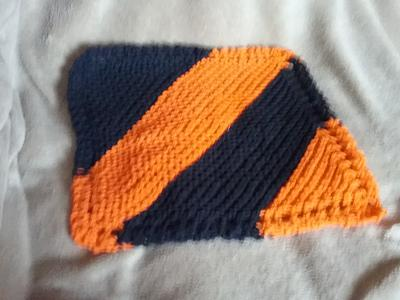 Striped Halloween Dishcloth